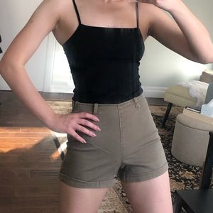 Army green cargo high waisted shorts US size 24